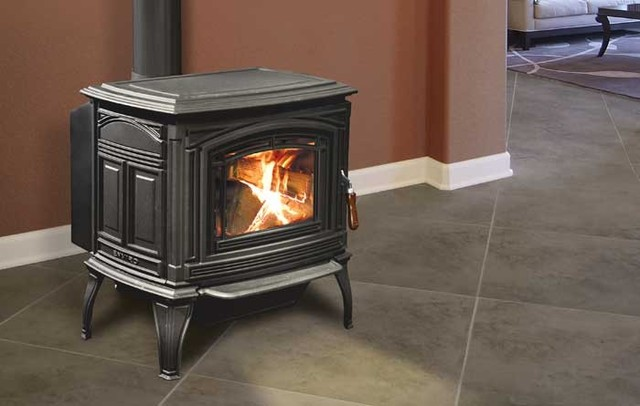 Enviro Boston 1700 Cast Iron Freestanding Wood Stove - Traditional ...