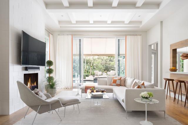 Equestrian Club Estates Contemporary Living Room