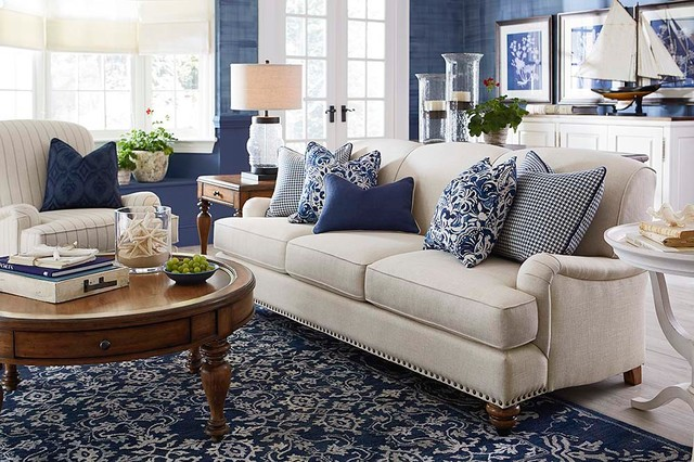 Charmant Essex Sofa Living Room By Bassett Furniture   Contemporary ...