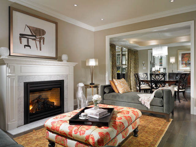 Estate model home brampton traditional living room Model home family room pictures