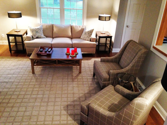 ETHAN ALLEN Beautiful Contemporary Living Room Dining Room