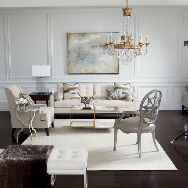 Ethan Allen Design Transitional Living Room