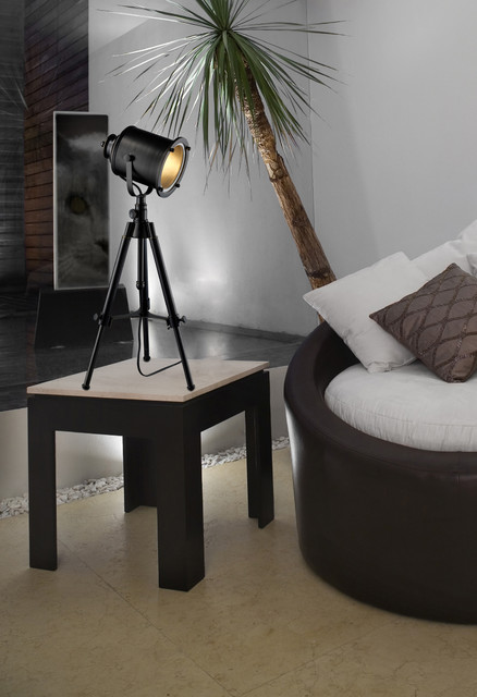 Ethan restoration black tripod table lamp modern - Black table lamps for living room ...
