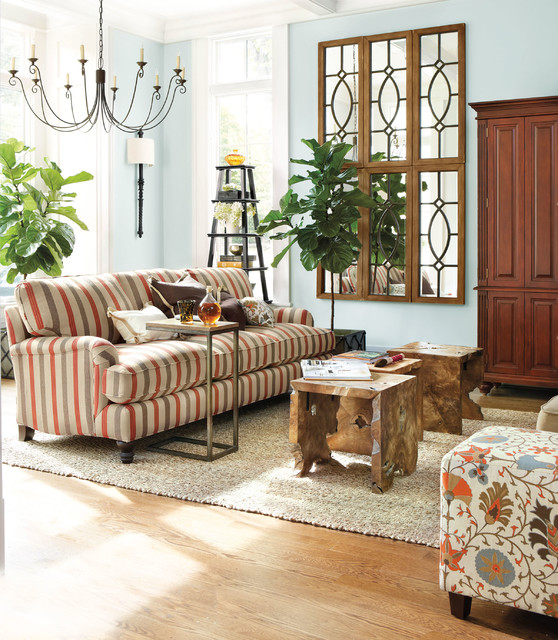 Eton sofa living room eclectic living room atlanta for Living room atlanta