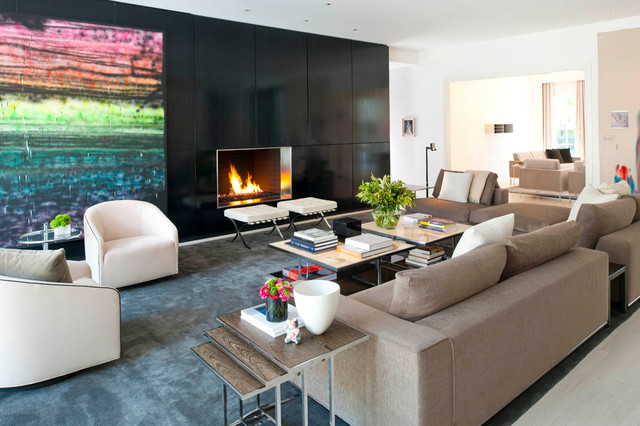 modern living room by R Brant Design