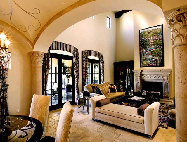 European Elegance mediterranean-living-room