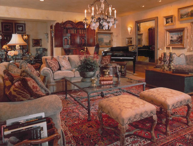 European farmhouse in edina mediterranean living room for Old world home decor