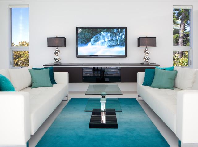 European Modern Tropical Living Room Other Metro