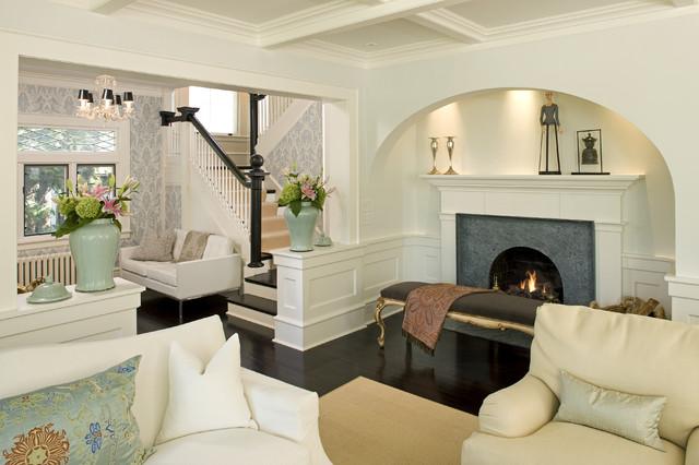 Charming European Salon Traditional Living Room