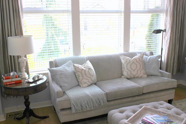 European Style Redo Traditional Living Room