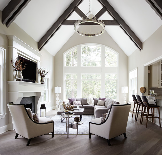 European Transitional transitional-living-room