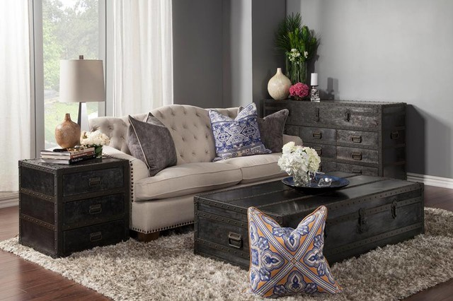 Accent Pieces Rustic Living Room