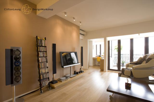 Ewan Court   A Natural, Timeless Home Design Contemporary Living Room