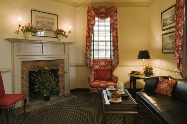 Ewing House Colonial Williamsburg Farmhouse Living Room
