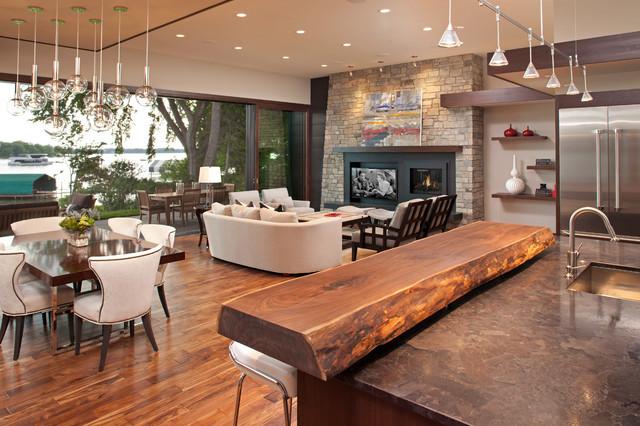 Excelsior Bay Avant Garde Contemporary Living Room