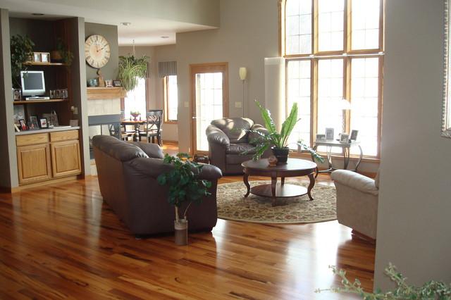 Exotic Brazilian Tigerwood Koa Prefinished Modern Living Room