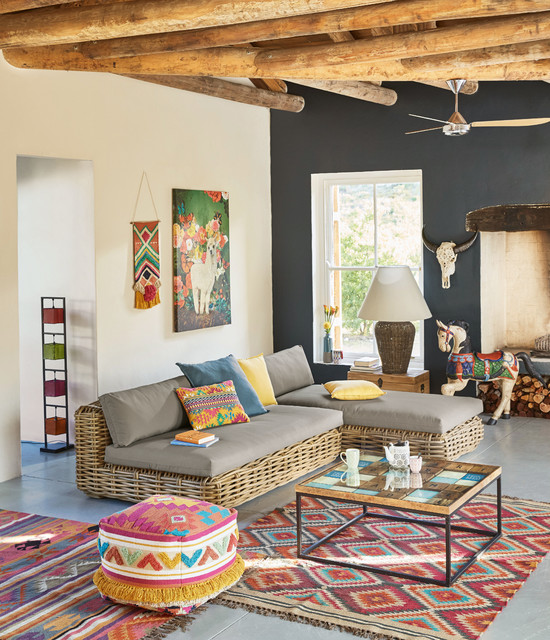 Exotic Style Gypset Tropical Living Room London By