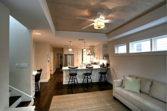 Expanded Cottage - Traditional - Living Room - austin - by Barley ...
