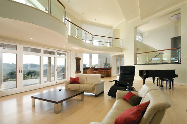 expansive living room contemporary living room - Expansive Living Room Interior