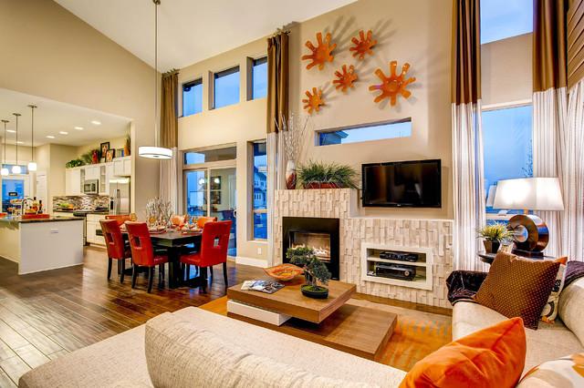 Expressions At Stapleton Contemporary Living Room Denver By Wonderland Homes