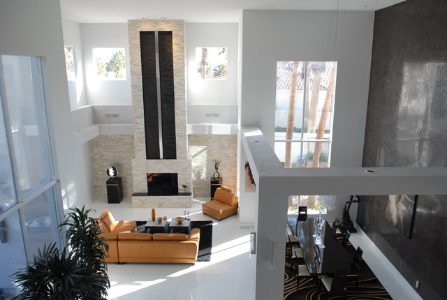 Houzz home design decorating and renovation ideas and for Waterfall in living room design