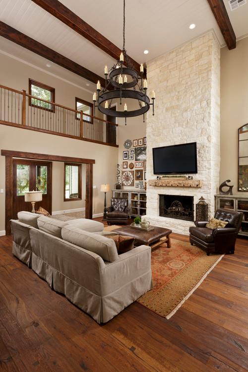 Custom Home Remodel Living Room by Morning Star Builders of Houston TX