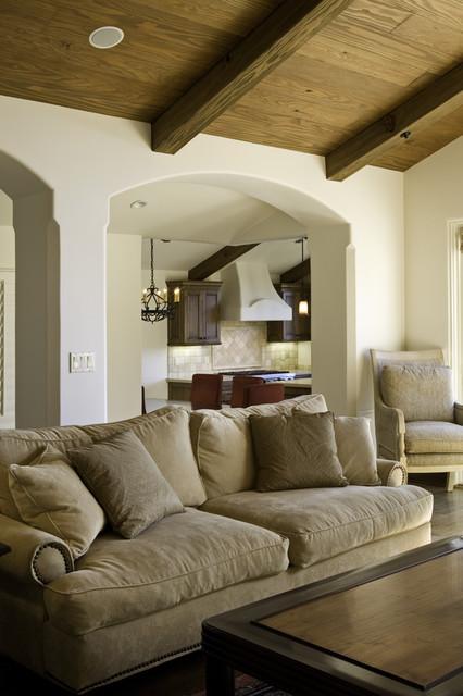 Exterior, Entry, Living Room, Kitchen and Bedroom mediterranean-living-room