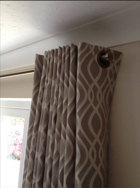 Eyelet Curtains Contemporary Living Room