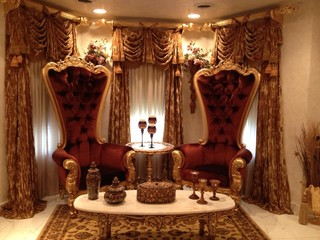 fabulous and baroque's chairs  benches  traditional  living, Living room