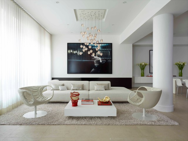 modern living room by West Chin Architect