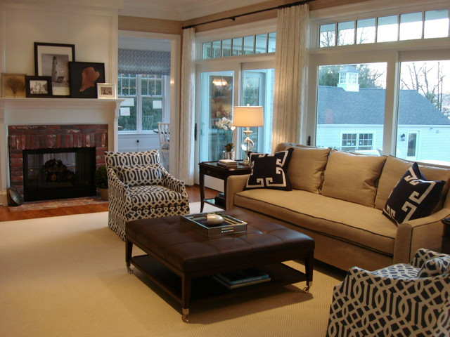 Fairhaven, NJ Waterfront Home traditional-living-room