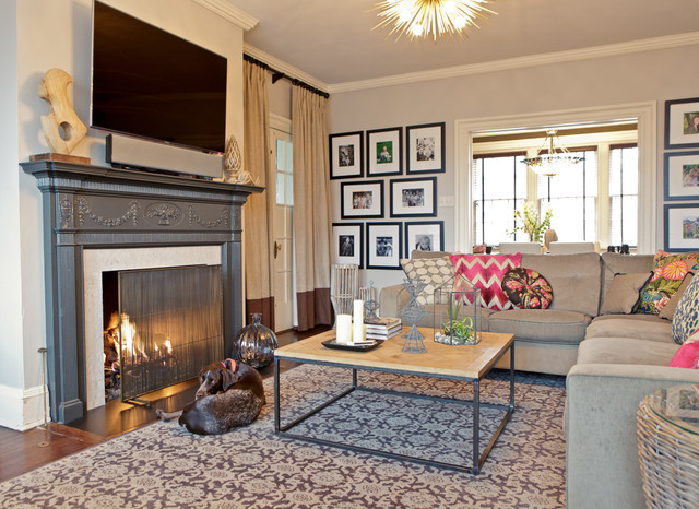 1920s colonial renovation transitional living room for 1920s living room ideas