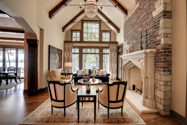 Fairytale Tudor Traditional Living Room Minneapolis