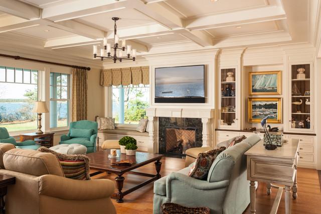 Falmouth Cape Cod Beach Style Living Room Boston