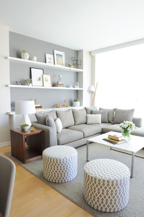 Scandinavian Living Room by Vancouver Interior Designers & Decorators Shift Interiors