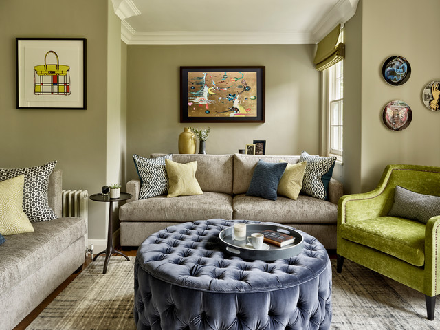 Family Fun Meets Moody Members Club - Midcentury - Living ... on Fun Living Room Ideas  id=81854