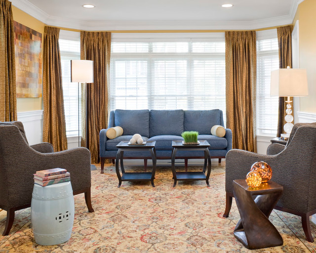 Family Home in the Suburbs traditional-living-room