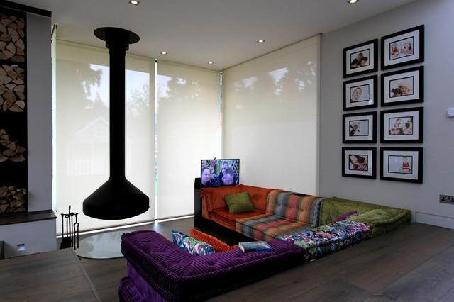 Family House Wimbledon - Contemporary - Living Room ...