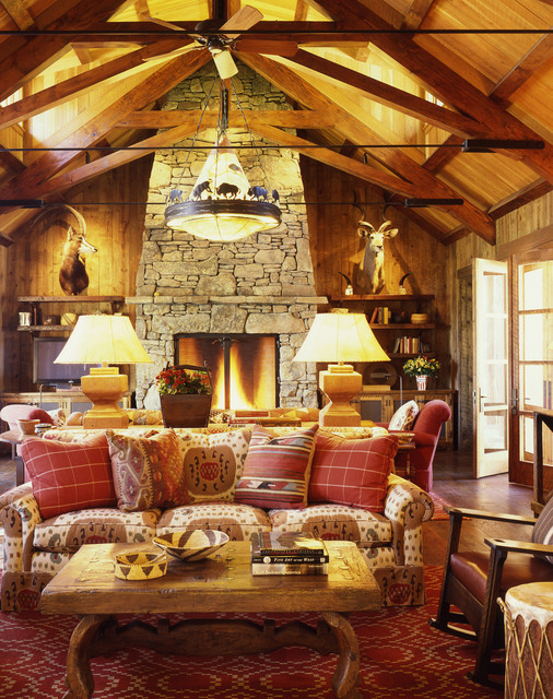 Family Ranch rustic-living-room