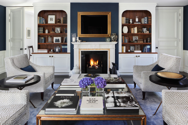 Family Residence Traditional Living Room London By