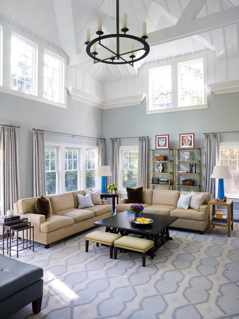 transitional living room designs blue walls open concept living room