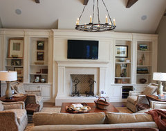 Family Room Built-Ins traditional-living-room