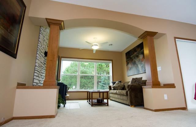 Family Room Column Wraps Traditional Living Room Minneapolis By AIC M
