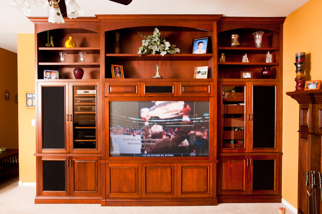 Family Room Entertainment Center Traditional Living