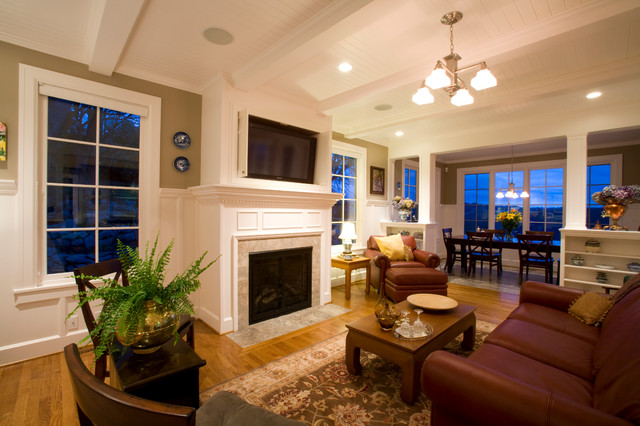 Family Room Flat Screen Tv American Traditional Living Room Portland By Designer S Edge Kitchen Bath Houzz