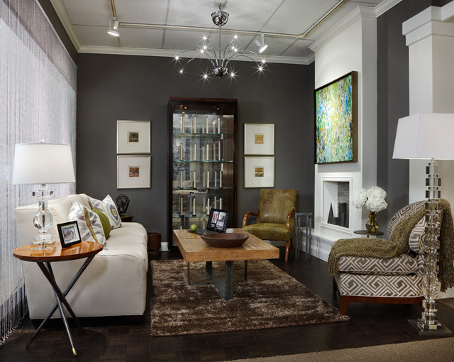 family room for today's modern family - contemporary - living room