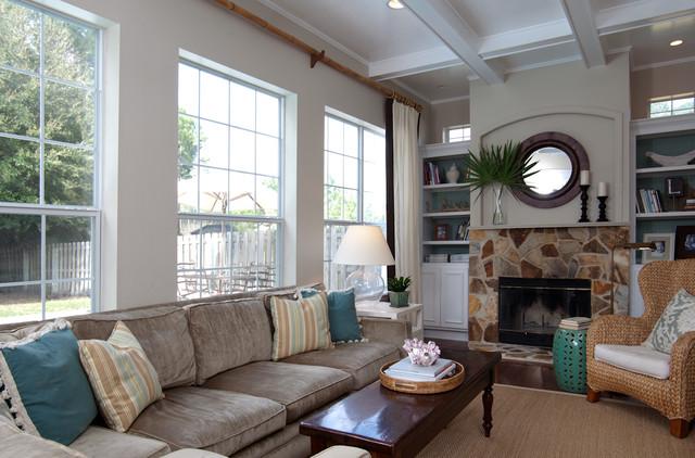 Family Room Beach Style Living Room Jacksonville By Lauren Leonard In