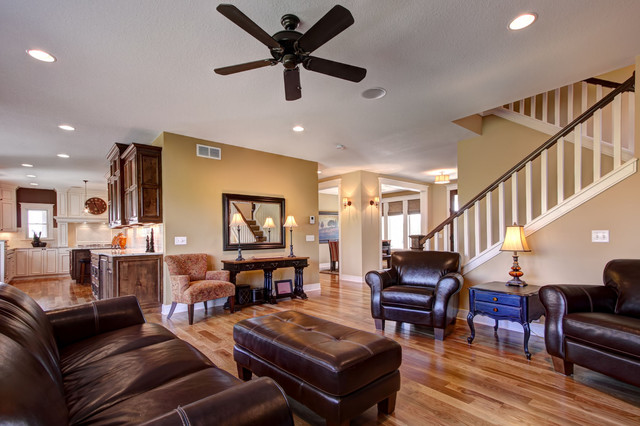 Family Room Open Floor Plan Contemporary Living Room