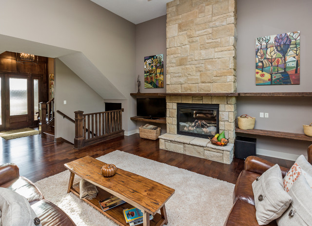 Family Rooms Transitional Living Room Other By