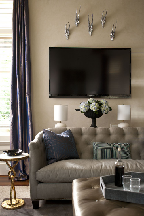 Rustic Finds A Bridge To Glam In Chapel Hill Living Room Aol Finance